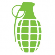 Lime Green Grenade Sticker Decal