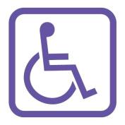 Handicap Disabled Wheelchair Symbol Vinyl Sticker Decal