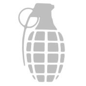 Grenade Bomb Military Army Vinyl Sticker Decal