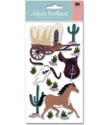 Jolee's Boutique Le Grande Dimensional Stickers-Wild West