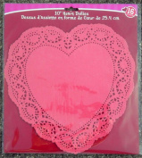 16 Large Red Heart Shaped Doilies