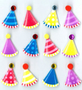 Jolee's Boutique Cabochons Dimensional Stickers, Party Hats