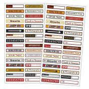 7 Gipsies - 97% Complete - Mini Label Stickers - Flea Market