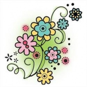 Imaginisce Flower Swirls Stamp