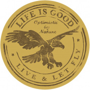 Life is good. Good Times 10cm Sticker - Live & Let Fly
