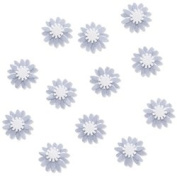Silver Mums Embellishments for Scrapbooking