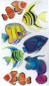 Jolee's Boutique Dimensional Stickers-Vellum Tropical Fish