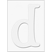 Die-cut Letter D and Letter D Frames for Stamping - PS463