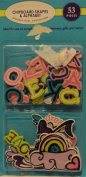 Doodle Girl Collection Chipboard Shapes and Alphabet