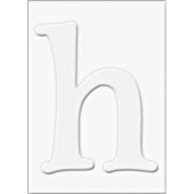 Die-cut Letter H and Letter H Frames for Stamping - PS467