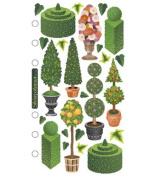 Vellum Stickers - Topiary Garden