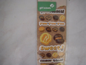 Girl Scouts 52 flocked stickers with Brownies and cookies theme