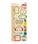 Cosmo Cricket Cardstock Stickers - Girl Friday