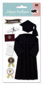 Jolee's Boutique Cap and Gown Stickers Black