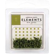 American Crafts Elements Mini Brads, Leaf