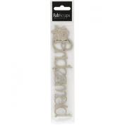Fabscraps Die-Cut Chipboard Word, Bridesmaid, 18cm by 4.8cm