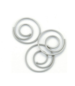 Creative Impressions Metal Spiral Clips 25/Package, Pewter