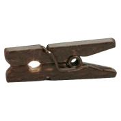 Mini Clothespins 2.5cm 25/Pkg-Chocolate