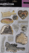 Creative Imaginations 12 Epoxy Stickers ~ Married