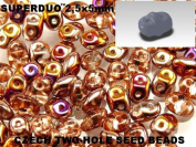 Czech Two-Hole Seed Beads SuperDuo Crystal Sliperit AB 20gram