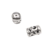 Antiqued Silver Plated Bead/Cord End Caps Openwork Vine Pattern 10.5x6.5mm