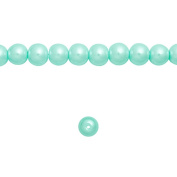 1 Strand Light Blue Glass Pearl Spacer Round Loose Beads Fit Necklace Bracelets Wholesale 4x4x4mm 200pcs GP0001-17
