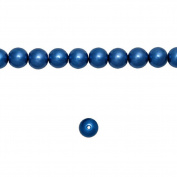 1 Strand Dark Blue Glass Pearl Spacer Round Loose Beads Fit Necklace Bracelets Wholesale 4x4x4mm 200pcs GP0001-20