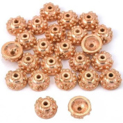 Bali Bead End Caps Copper Plated Beading 7mm Approx 24