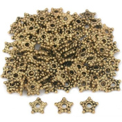 Star Bali Spacer Beads Antq Gold Plate 6.5mm Approx 100