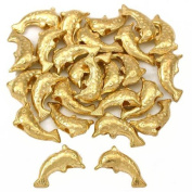 15g Jumping Bali Dolphin Beads Gold Plt 9.5mm Approx 25
