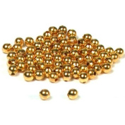 75 Round Ball Beads Gold Plated Beading Stringing 3mm