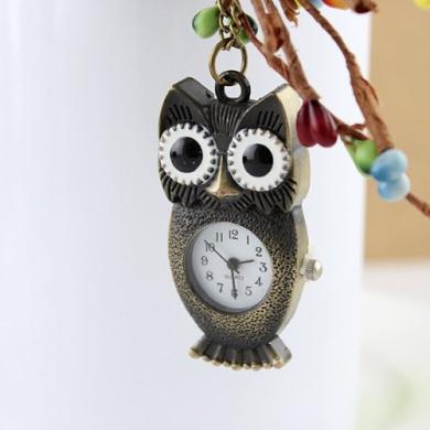 Vintage Jewellery Lovely Bird Design Pocket Watch