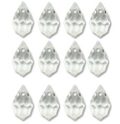 9x15mm Preciosa Czech Crystal Faceted Drop Clear Beads 498 51 681 Package of 12