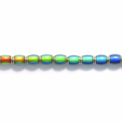 Shipwreck Beads Mirage Brass Colour Change Oval Mood Beads, 7 by 10mm, 6-pack