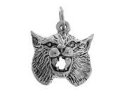 Sterling Silver Bobcat Charm