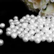 14 mm White Pearls Faux Imitation Plastic Beads - 1 lb lots