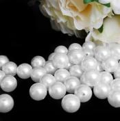 18 mm White Pearls Faux Imitation Plastic Beads - 1 lb lots