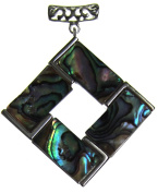 Bead Collection 41250 Abalone Square Pendant, 35mm