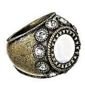 White Glam Ring By Avon