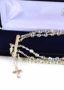 Clear Crystal Rosary Bracelet 5 Decades