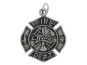 Sterling Silver Fire Fireman Department Charm