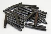 50 Pcs Black Bone Hair Pipe Choker Beads Pendants 5.1cm