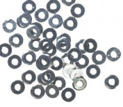 48 Flat Discs 2.5mm Sterling Silver Tiny Spacer Beads