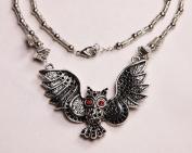 Silver Metal Owl Necklace - N008