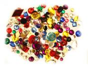 Rhinestone Gems Acrylic Flat Back Colours JAZZY MIX ROUND OVAL STAR SQUARE DROP