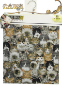 Cats CAT Fabric 2yds 140cm Wide Cat 100% Cotton Sewing Material For Quilt Apparel or Projects 100% COTTON Sewing Material For Quilt Apparel or Projects- Top Rated Quality 22% more FABRIC than 110cm width