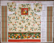 FLIRTY APRON Easy Cut and Sew Kit Vintage Style THE CITRUS ORCHARD
