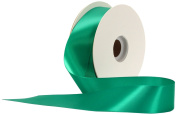 Offray Single Face Satin Craft 3.8cm by 50-Yard Ribbon Spool, Emerald
