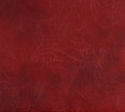 140cm G493 Red, Distressed Leather Look Upholstery Grade Recycled Leather (Bonded Leather) By The Yard