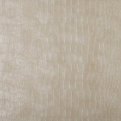 G392 Cream, Alligator Look Upholstery Faux Leather By The Yard